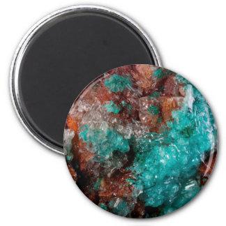Dark Rust & Teal Quartz Magnet