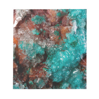 Dark Rust & Teal Quartz Notepad