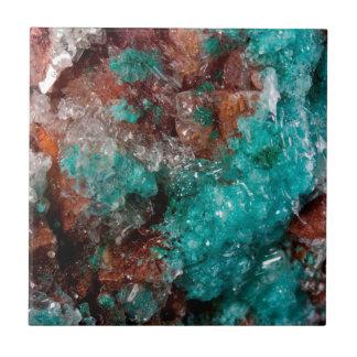 Dark Rust & Teal Quartz Tile