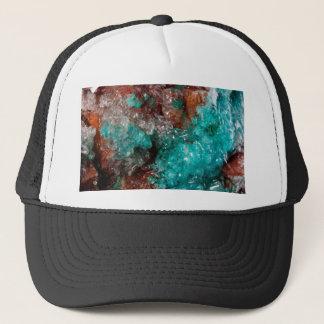 Dark Rust & Teal Quartz Trucker Hat