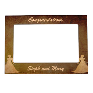 Dark Rustic Lesbian Wedding Gift Frame for Brides