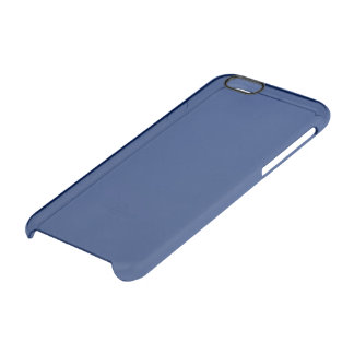 Dark Sapphire Solid Colour Clear iPhone 6/6S Case
