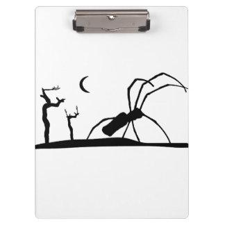 Dark Scene Silhouette Style Graphic Illustration Clipboard