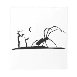 Dark Scene Silhouette Style Graphic Illustration Notepad