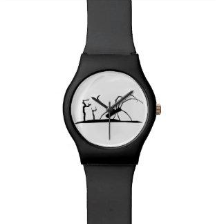 Dark Scene Silhouette Style Graphic Illustration Watch