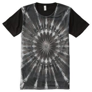 Dark Shadow Mandala Art All-Over Print T-Shirt