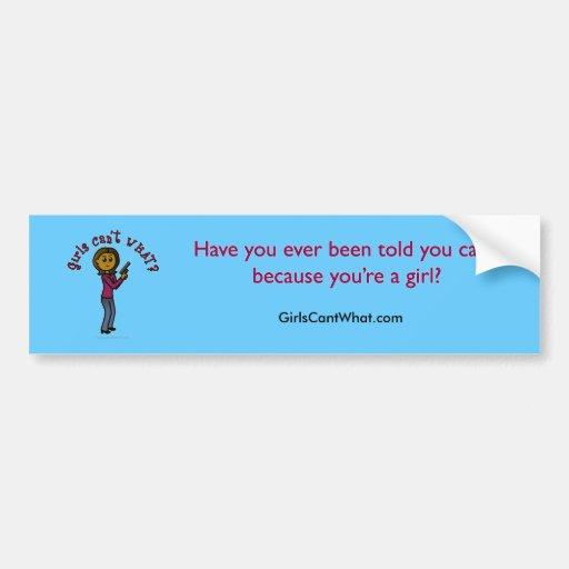 Dark Sharpshooter Girl Bumper Sticker
