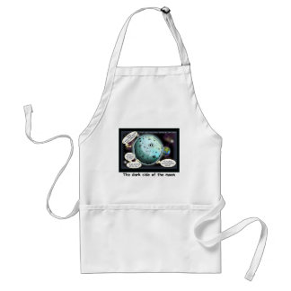 Dark Side Of The Moon Funny Cartoon Gifts Standard Apron