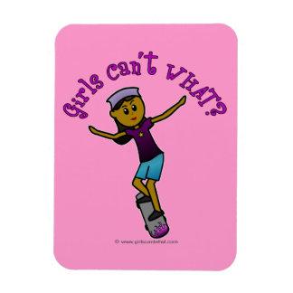 Dark Skater Girl Rectangular Magnet