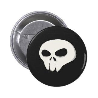 Dark skull button
