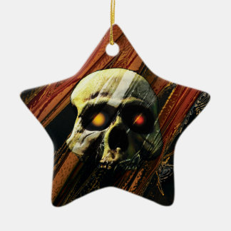 Dark Skull Ceramic Ornament