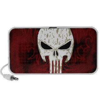 Dark Skull Doodle iPhone Speaker