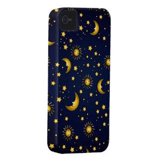 Dark Sky: Dark blue iPhone 4 Covers