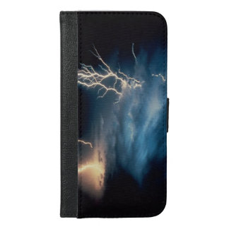 Dark Sky Stormy Lightning Clouds iPhone 6/6s Plus Wallet Case