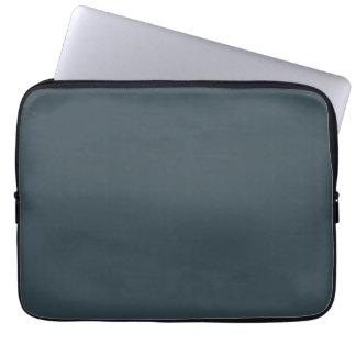 Dark Slate Blue Gray Color Grey Trend Template Laptop Computer Sleeve