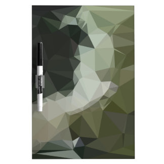 Dark Slate Gray Abstract Low Polygon Background Dry Erase Board