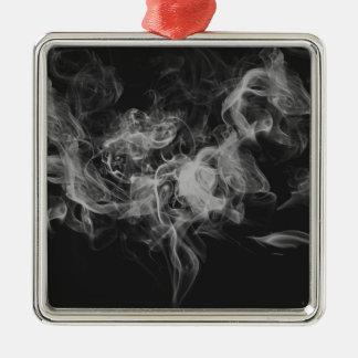 dark smoke Silver-Colored square decoration