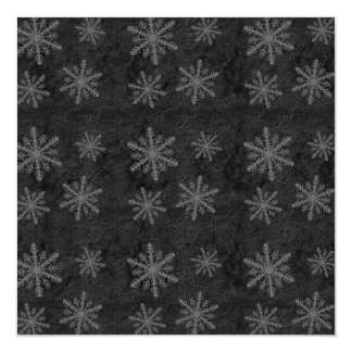 Dark Snowflake Pattern 1 Invites