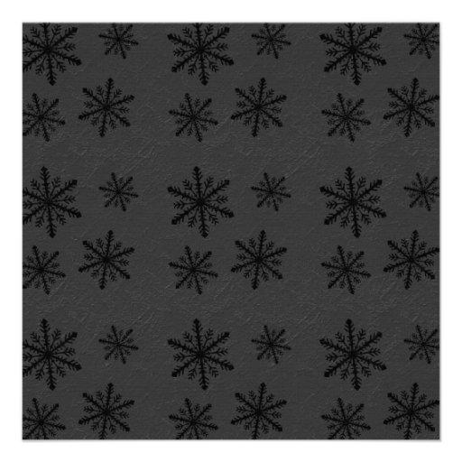 Dark Snowflake Pattern 2 Invites