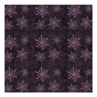 Dark Snowflake Pattern Pink Invites