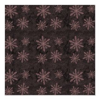 Dark Snowflake Pattern Red Invites