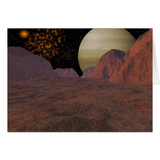 Dark Space Scene Greeting Card