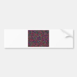 Dark squares bumper sticker