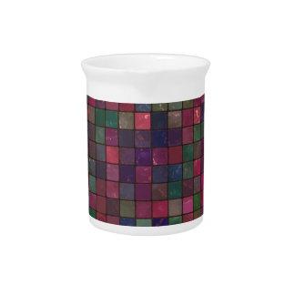 Dark squares pitcher
