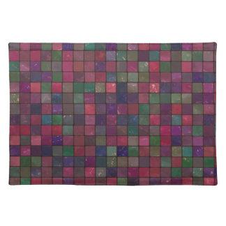 Dark squares placemat