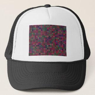 Dark squares trucker hat