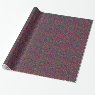 Dark squares wrapping paper