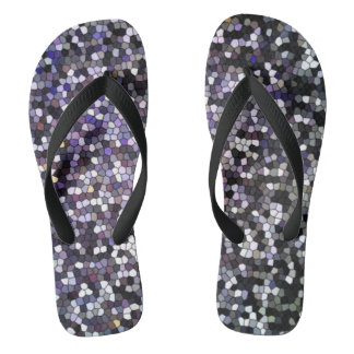 Dark Stained Glass Mosaic Design Thongs