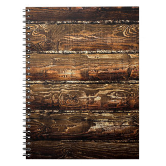 DARK STAINED WOOD WALL NOTEBOOKS