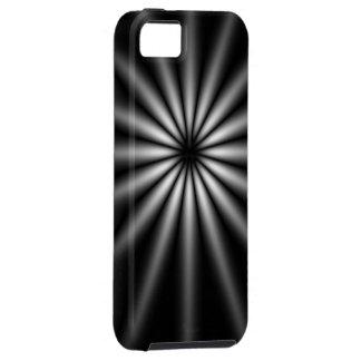 Dark Stainless Steel Starburst iPhone 5 Cases