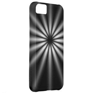 Dark Stainless Steel Starburst iPhone 5C Cases