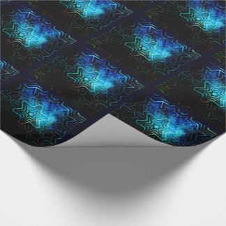 Dark star mandala tiled paper