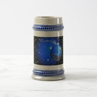 Dark starry skies ornament beer stein