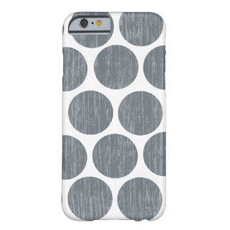 Dark Steel Gray Distressed Polka Dot iPhone 6 Barely There iPhone 6 Case