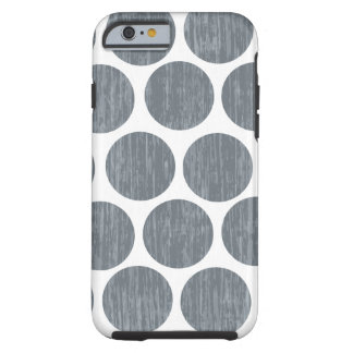Dark Steel Gray Distressed Polka Dot iPhone 6 Tough iPhone 6 Case