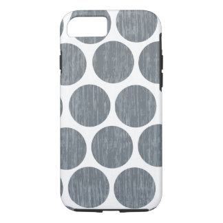 Dark Steel Gray Distressed Polka Dot iPhone 7 iPhone 7 Case