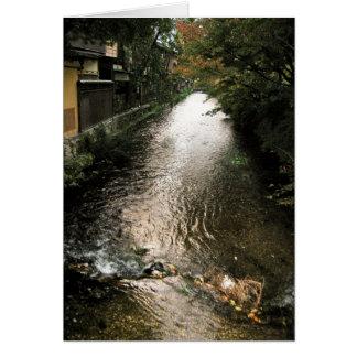 Dark Stream through Gion District Card