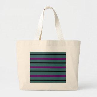 Dark Stripe Love Large Tote Bag