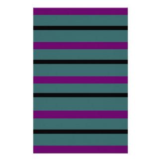 Dark Stripe Love Stationery