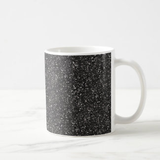 Dark Stylish Silver Grey Glitter Coffee Mug