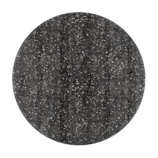 Dark Stylish Silver Grey Glitter Cutting Board
