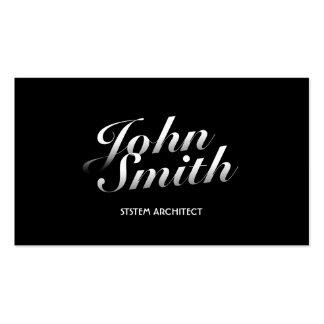 Dark Stylish System Architect Business Card