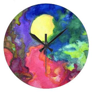 Dark Sunrise Large Clock