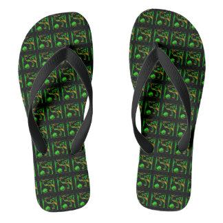 Dark Swamp Thongs