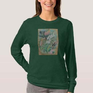 Dark t-shirt - Hummingbird and Moth