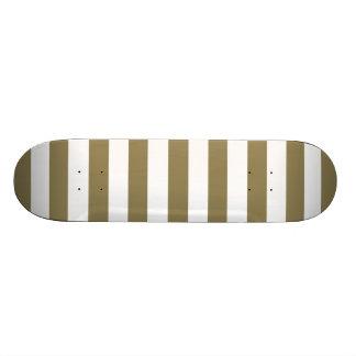 Dark Tan Horizontal Stripes Striped Skate Boards